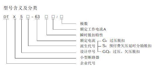 dtx5s-63预付费电表专用断路器